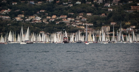 sailboat during a race in the Gulf of Trieste during Barcolana 2012 Stock Photo - 15838446