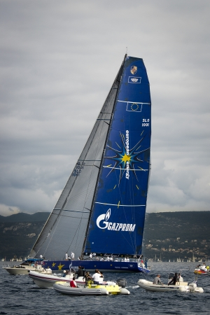 sailboat during a race in the Gulf of Trieste during Barcolana 2012 Stock Photo - 15838439