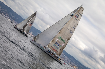 sailboats during a race in the Gulf of Trieste during Barcolana 2012 Stock Photo - 15927941