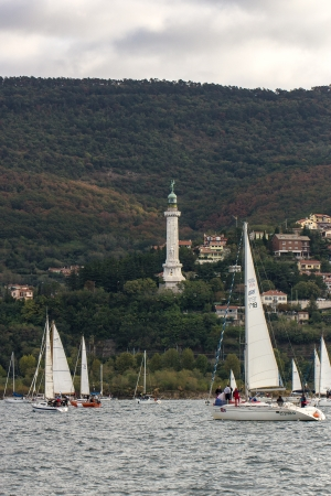 sailboats during a race in the Gulf of Trieste during Barcolana 2012 Stock Photo - 15942979