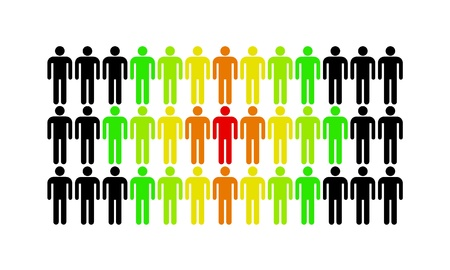 The man who stands out from the rest of the population Stock Photo - 16246892