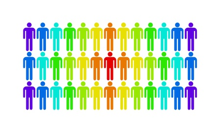 The man who stands out from the rest of the population Stock Photo - 16246896
