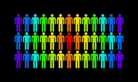 The man who stands out from the rest of the population Stock Photo - 16246897