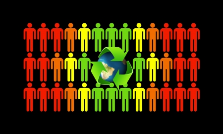 Green ecology makes better people and helps save the world Stock Photo - 16246881
