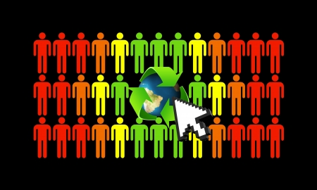 Green ecology makes better people and helps save the world Stock Photo - 16246883
