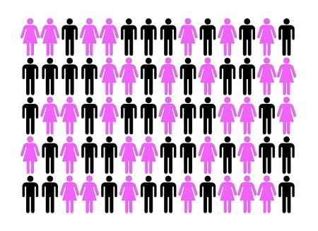 simbolo uomo donna: Le differenze tra uomini e donne Archivio Fotografico