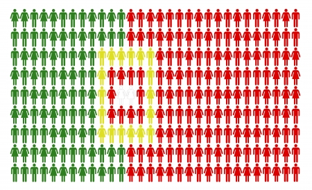 Portuguese flag built by many people Stock Photo - 16246853