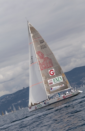 barcolana: sailboats during a race in the Gulf of Trieste during Barcolana 2012 Editorial