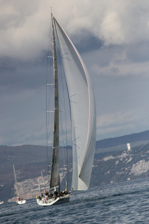 sailboats during a race in the Gulf of Trieste during Barcolana 2012 Editorial