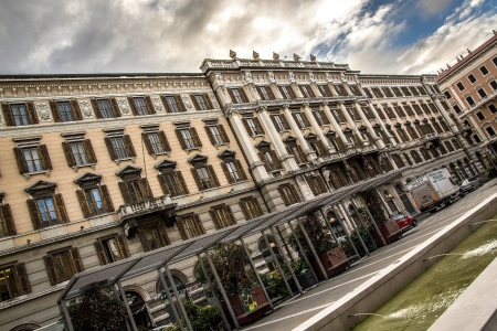 View of the buildings in square Vittorio Veneto in Trieste, Italy 2013 Stock Photo - 17764688