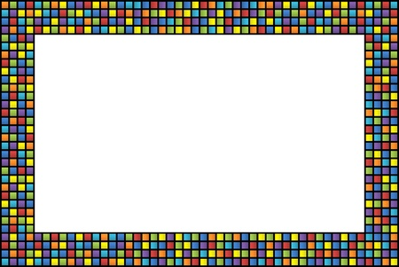 Abstract frame with colored squares border Stock fotó
