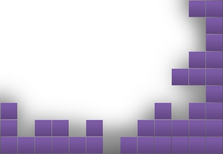 Abstract frame with purple squares border Stock Photo