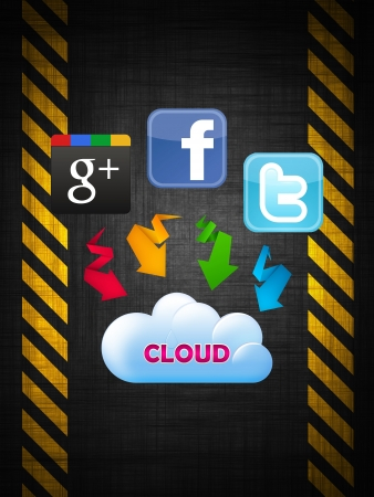 The Cloud technology connected to social networks