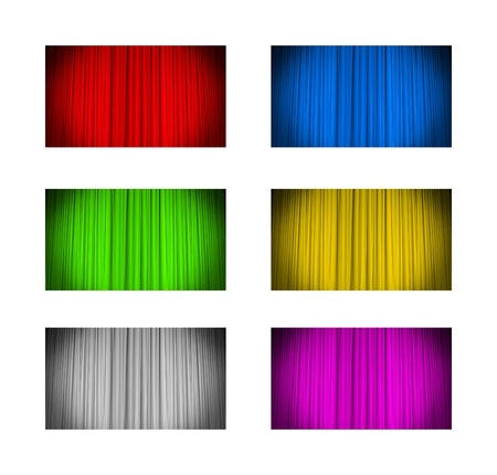Curtain background in various colors, 6 elements photo