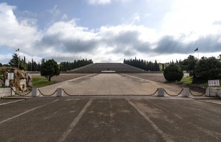 a faction: Monument to the fallen of the war in Redipuglia, Italy