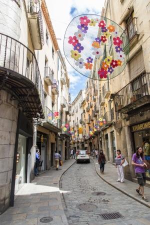 Road of Girona, Spain Stock Photo - 20805810