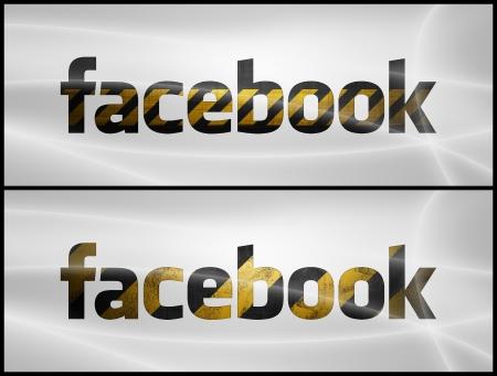 Facebook scritto in stile costruzione Archivio Fotografico - 21008302