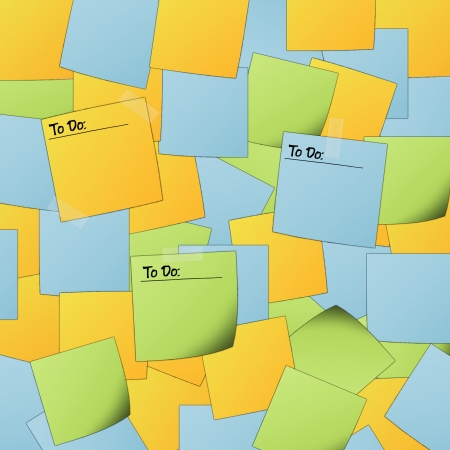 Colorful post it background with text  To do