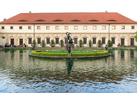 Garden of the Senate of the Parliament in Prague, Czech republic  April 2014