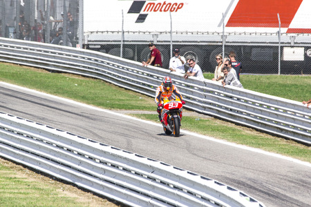 dani: Dani Pedrosa of Repsol Honda team racing. Misano, September 14, 2014