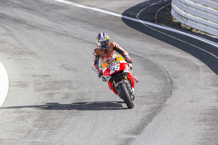 repsol honda: Dani Pedrosa of Repsol Honda team racing. Misano, September 14, 2014