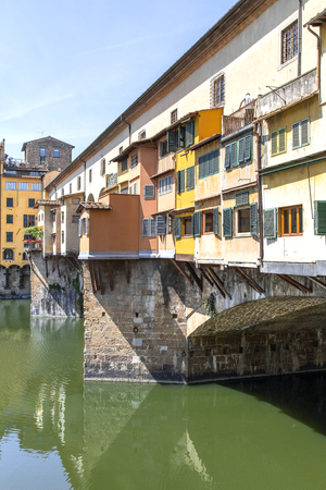 View of the Ponte Vecchio in Florence. Italy, Summer 2015 Stock Photo