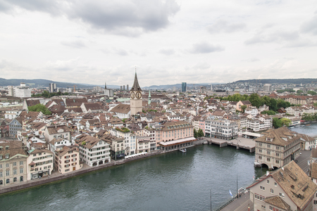 The city of Zurich. Switzerland, Summer 2015