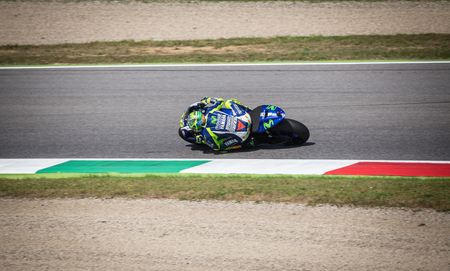 Valentino Rossi of Yamaha Factory team racing MotoGP