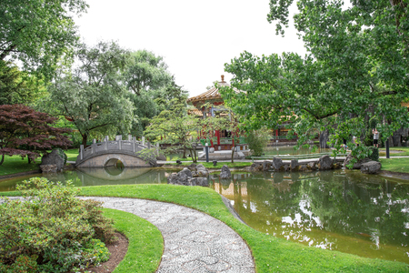Traditional Japanese Garden, Zurich. August 2015