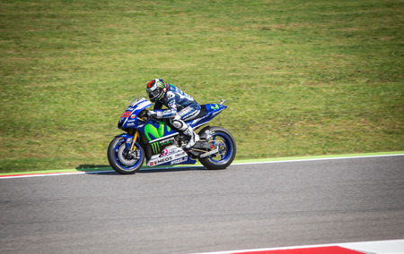 Jorge Lorenzo of Yamaha Factory team racing
