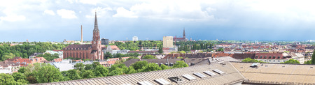 Panoramic view of Munich from the Deutsches Museum. Munich, June 2016
