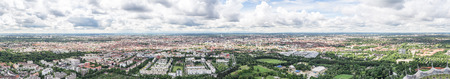 Panoramic view of Munich from Olympiaturm. Munich, June 2016 Editorial
