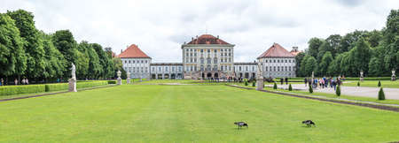 View of the Nymphenburg palace, Munich. June 2016
