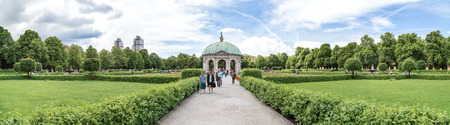 Panoramic view of Hofgarten, Munich. June 2016