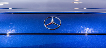 Mercedes Benz GT AMG at Marcedes store, Munich. June 2016