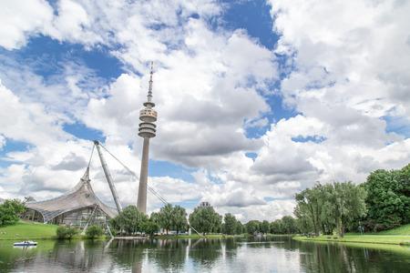 Panoramic view of the Olympiapark, Munich. June 2016
