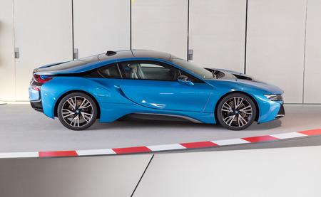 BMW i8 at BMW museum, Munich. June 2016