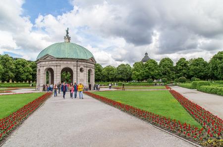 Panoramic view of Hofgarten, Munich. June 2016