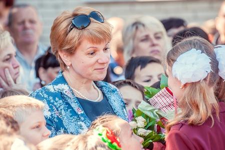 Last bell Lutsk 11th grade high school 14 celebration was held in Lutsk Volyn Region Ukraine, editorial reportage