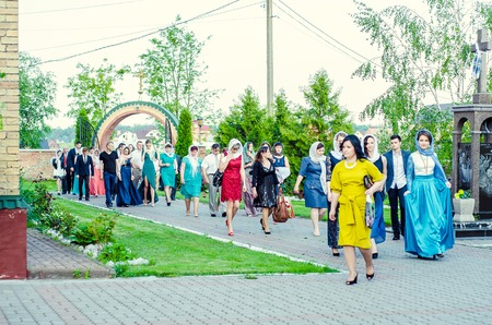 17 18 years: editorial reportage Last bell Lutsk 11th grade high school 14 celebration was held in Lutsk Volyn Region Ukraine, 30.05.15