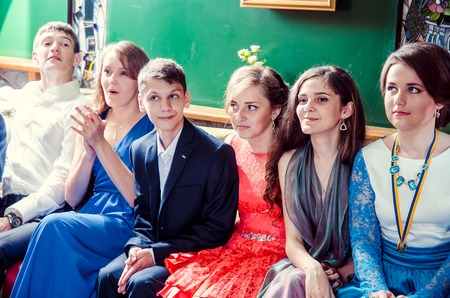 editorial reportage Last bell Lutsk 11th grade high school 14 celebration was held in Lutsk Volyn Region Ukraine, 30.05.15