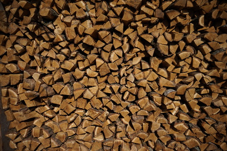 stack of firewood: a stack of nature firewood wood  fire