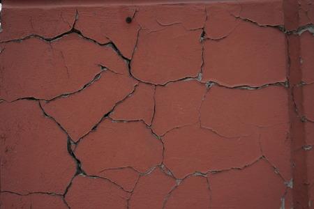 stucco: cracked stucco texture cracked brown retro textured Stock Photo