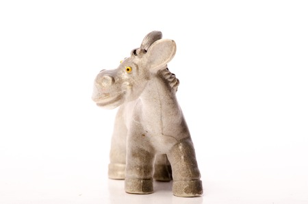 Retro Plastic Donkey used and old but still going Look at him smiling So cute