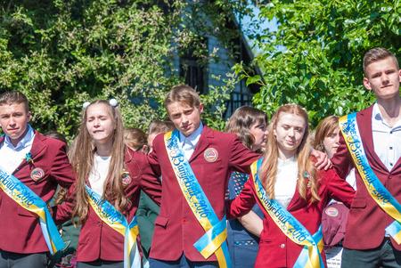 editorial reportage Last bell Lutsk 11th grade high school 14 celebration was held in Lutsk Volyn Region Ukraine, 27.05.16