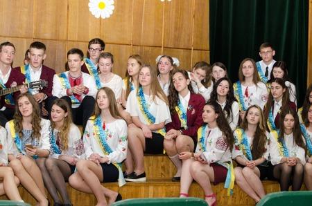 reportage: editorial reportage Last bell Lutsk 11th grade high school 14 celebration was held in Lutsk Volyn Region Ukraine, 27.05.16