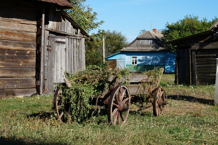 martha: Old wooden wagon timber, industry, west carrying car