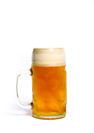 tankard: Variety of different beers, of different colors and alcoholic strengths in different shaped glasses suited to different personalities Stock Photo