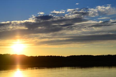 heat loss: Sunset on the beach with beautiful sky