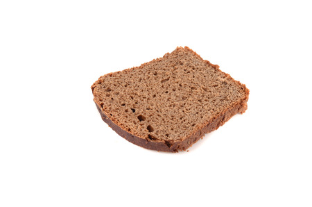 whole wheat toast: Black sliced bread. Isolated on a white background. The view from the top.